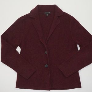 Eileen Fisher Burgundy Cardigan Sweater